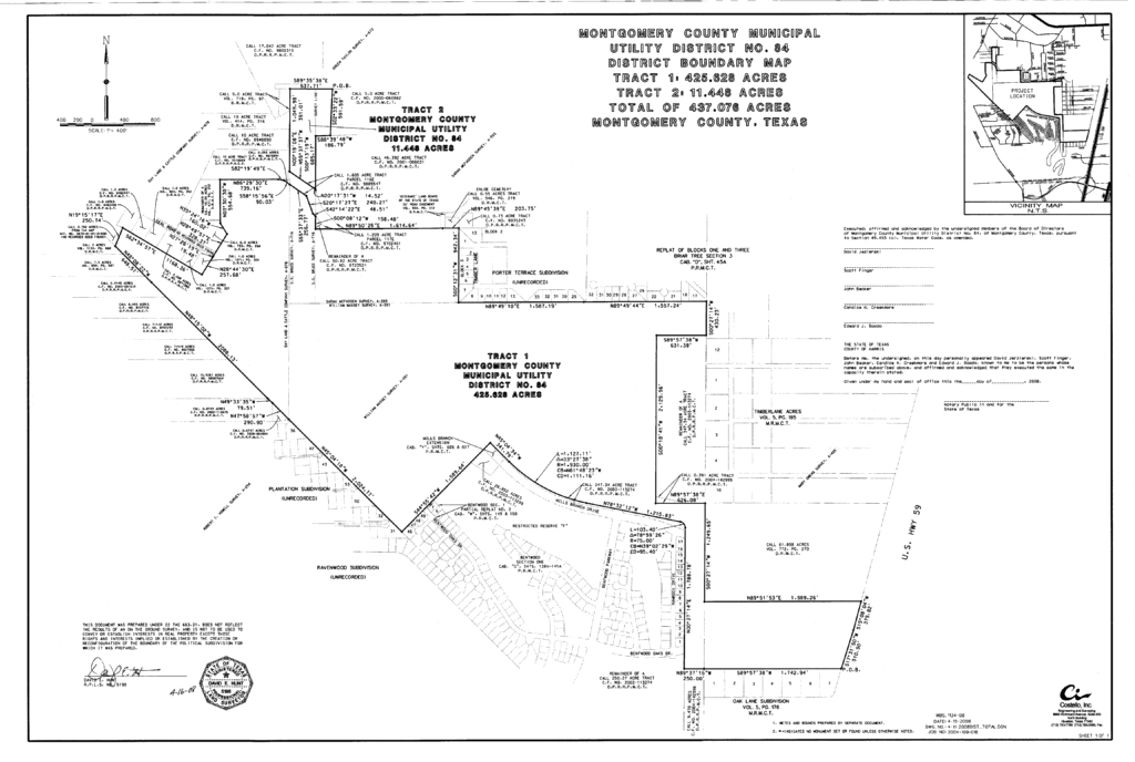 Grand Lakes MUD Section Map